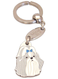 SHIH-TZU GREY BLUE - pet ID tag, dog ID tags, pet tags, personalized pet tags MjavHov - engraved pet tags online
